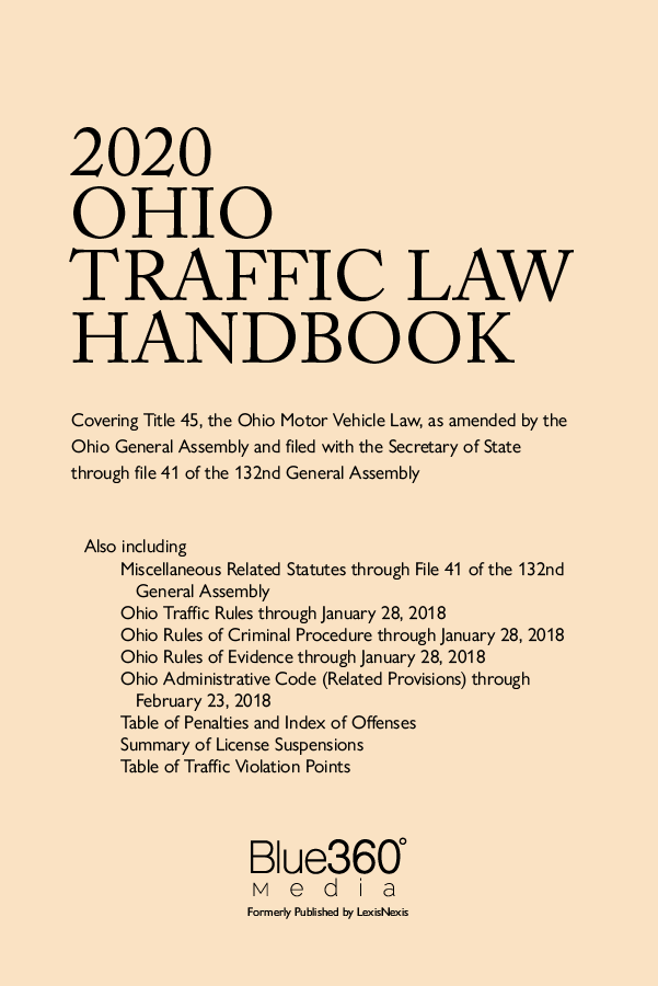 Ohio Traffic Law Handbook 2020 Edition